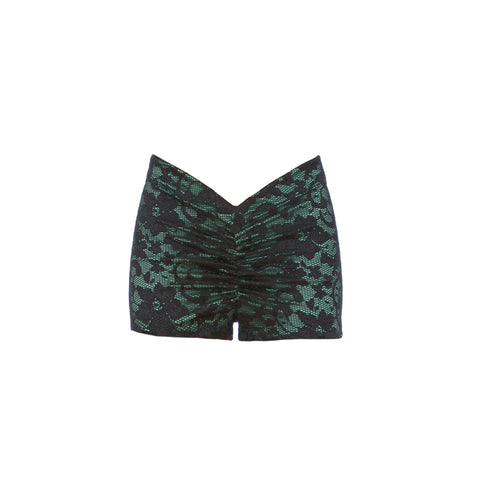 Lace Green V's Shorts