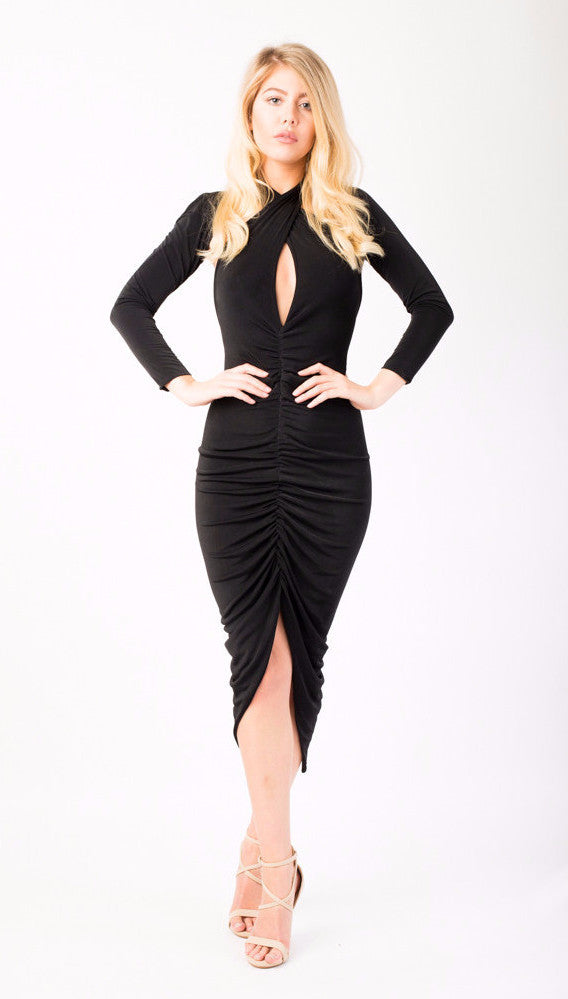 Removable stretch straight multi way black sleeves