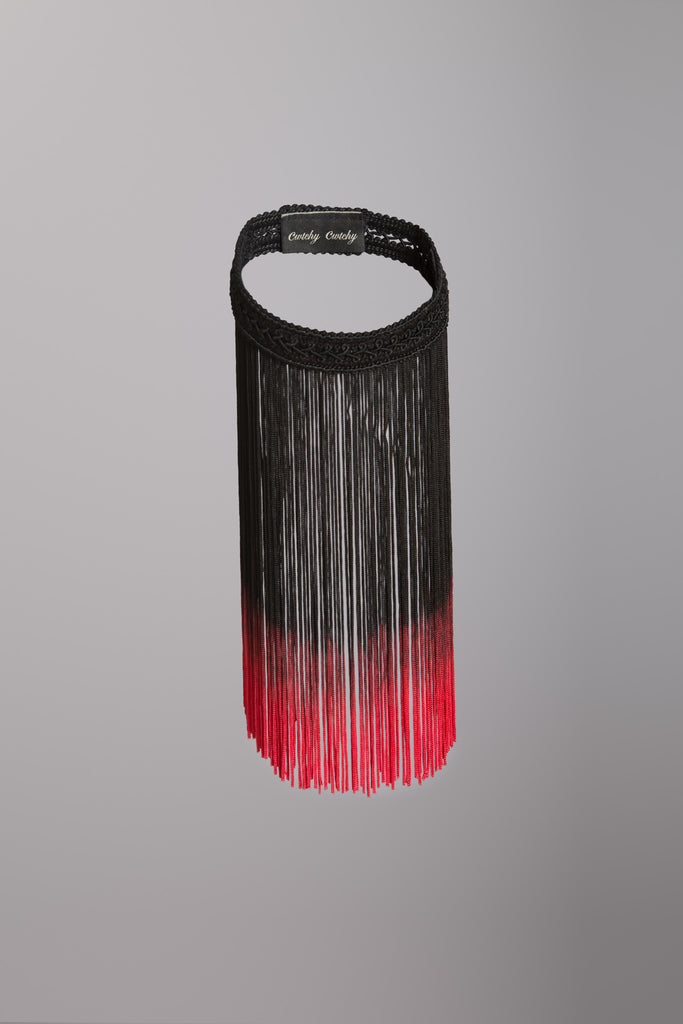 accessories, fringe, choker,