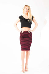 Stripe V skirt
