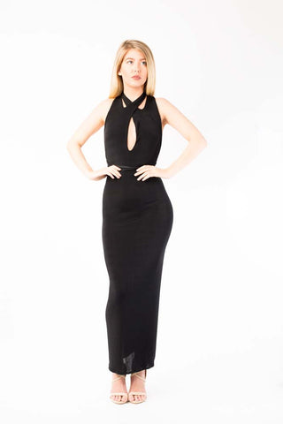 Black Million multiway halter dress