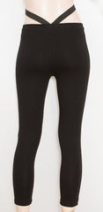 leggings, strap leggings, black leggings, leggings, booty scrunch, scrunch bum, pants