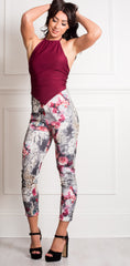 V backed floral Veggings