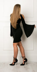 Cold shoulder batwing multiway removable sleeves