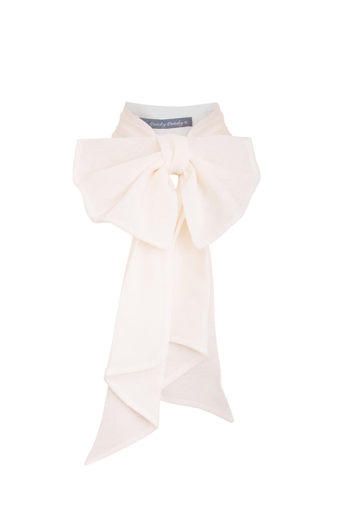 cream bow, bows, accessories,