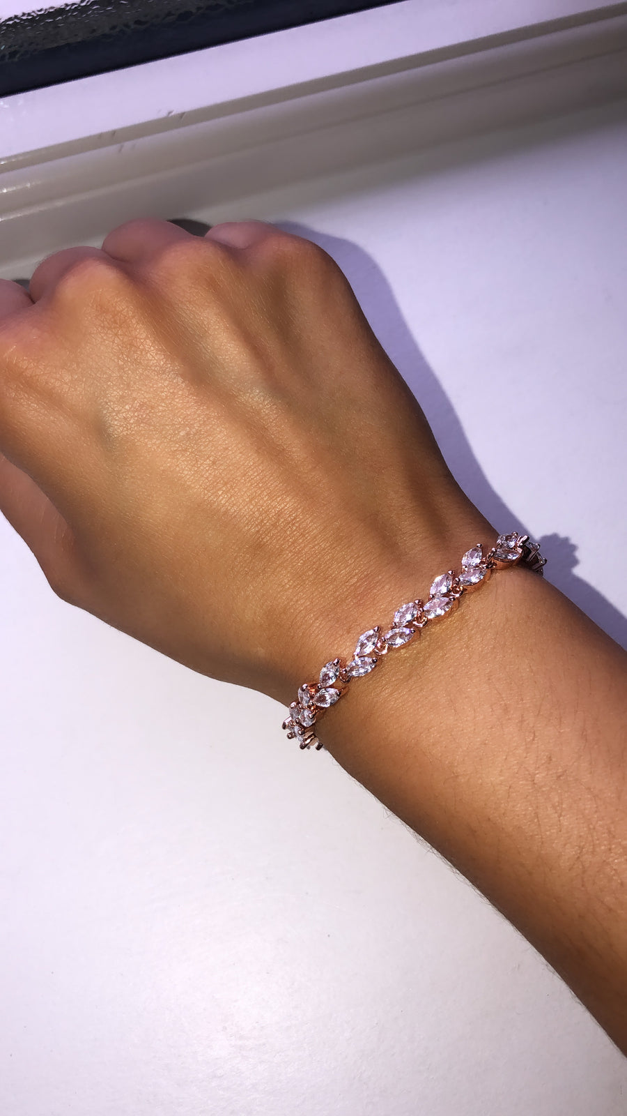 Rose Gold Bedazzled Bracelet