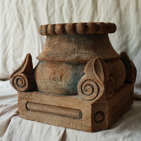 Large Carved Candle Stand