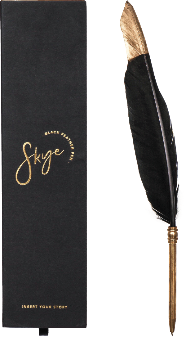 Black Feather Pen - Skye