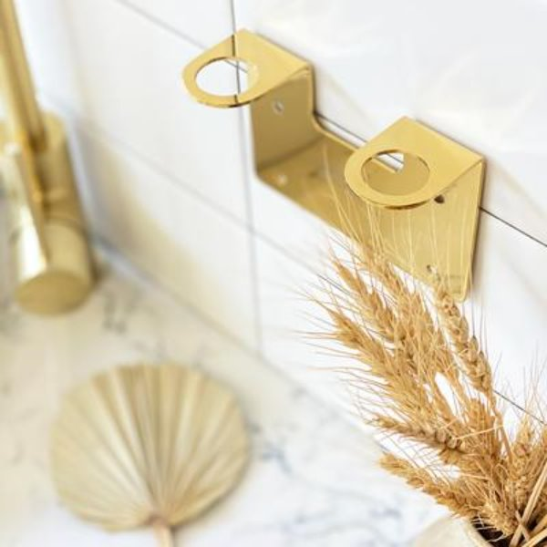 Double Wall Holder - Gold