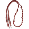 "Martin 1"" Braided Nylon Barrel Reins - Maroon & Tan"