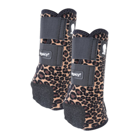 Classic Equine Legacy Boots - Cheetah - Medium Fronts