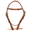 Black Lace Leather Headstall