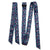 "Double Diamond 1-3/4"" Wide Heavy Duty Latigo and Off Billet - Navy Feathers"
