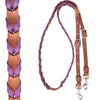 "Martin Saddlery 5/8"" Harness Barrel Rein with Latigo Purple Lace"