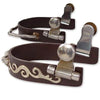 Classic Equine Scroll Bumper Spurs - Medium