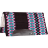 "Classic Equine Sensorflex Wool Blanket Top Merino Fleece Bottom Saddle Pad 32"" x 34"" - Chocolate/Teal"
