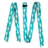 "Double Diamond 1-3/4"" Wide Heavy Duty Latigo and Off Billet - Teal Cactus"