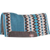 "Classic Equine Contour Wool Top Felt 1/2"" Saddle Pad 32"" x 34"" Teal & Ivory"