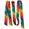 "Double Diamond 1-3/4"" Wide Heavy Duty Latigo and Off Billet - Tie Dye"