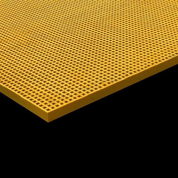 yellow mini mesh grating on black background