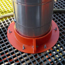 "Orange Urethane Round Penetration Collar, 16"" Internal Diameter"