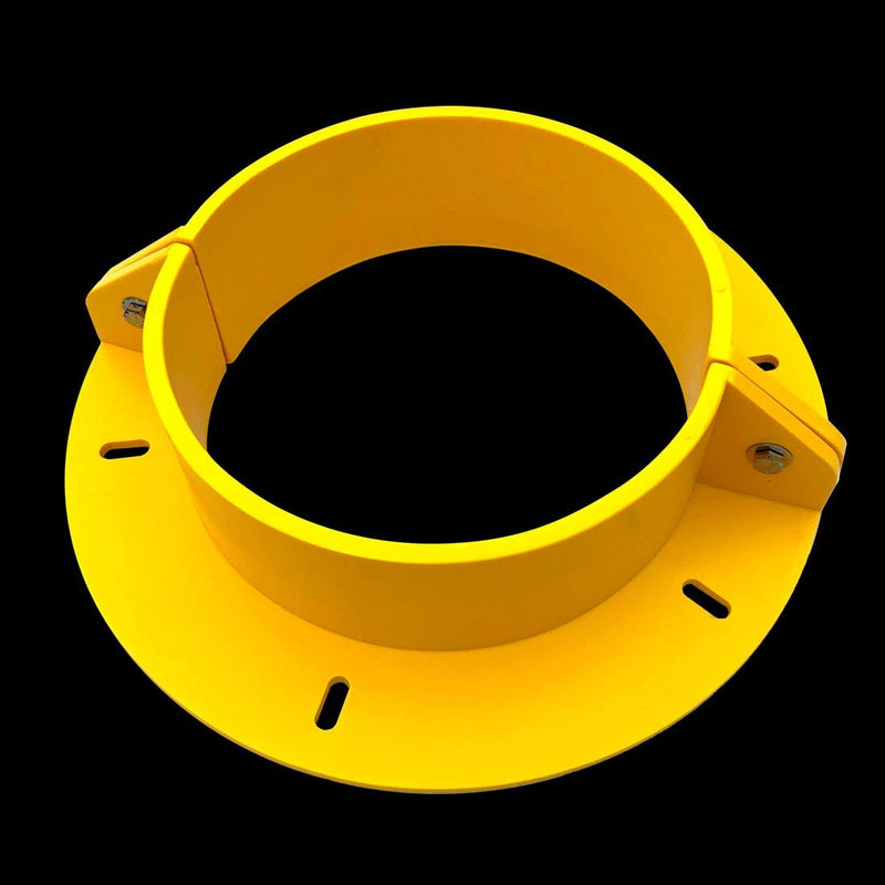 "Urethane Round Penetration Collar, 10"" Internal Diameter, Yellow (Hardware included)"