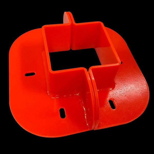 "Urethane Square Penetration Collar, 10"" Internal Diameter, Orange (Hardware included)"