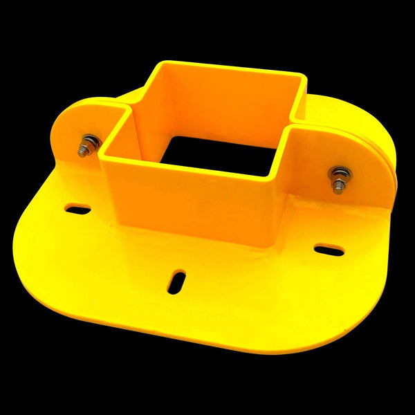 "Urethane Square Penetration Collar, 10"" Internal Diameter, Yellow (Hardware included)"