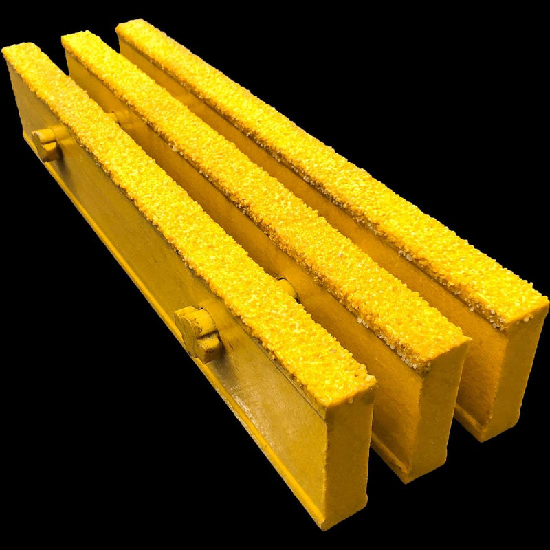 "Heavy Duty I-Bar Grating, 3"" Thick, 50% Open Area, Vinyl Ester, Yellow"