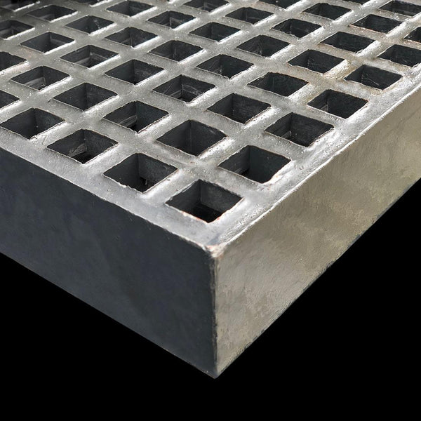 Mini Mesh Grating, 40mm Thick, 20mm Square, Dark Gray, Isophthalic Resin