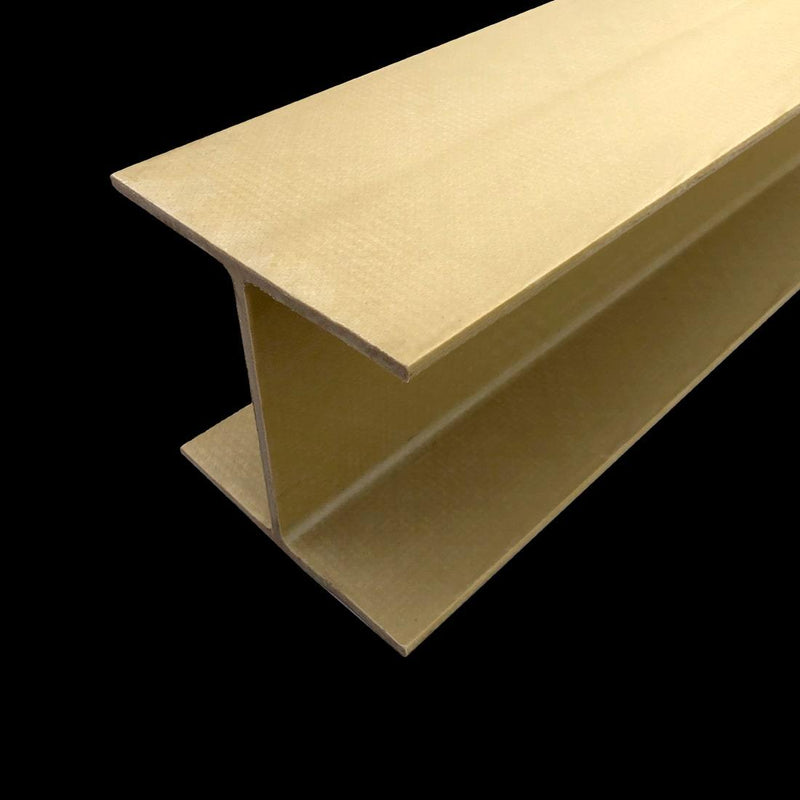 beige wide flange I-beam on dark background