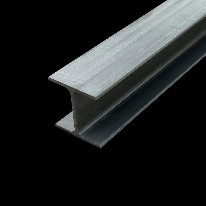 dark gray wide flange I-beam on dark background