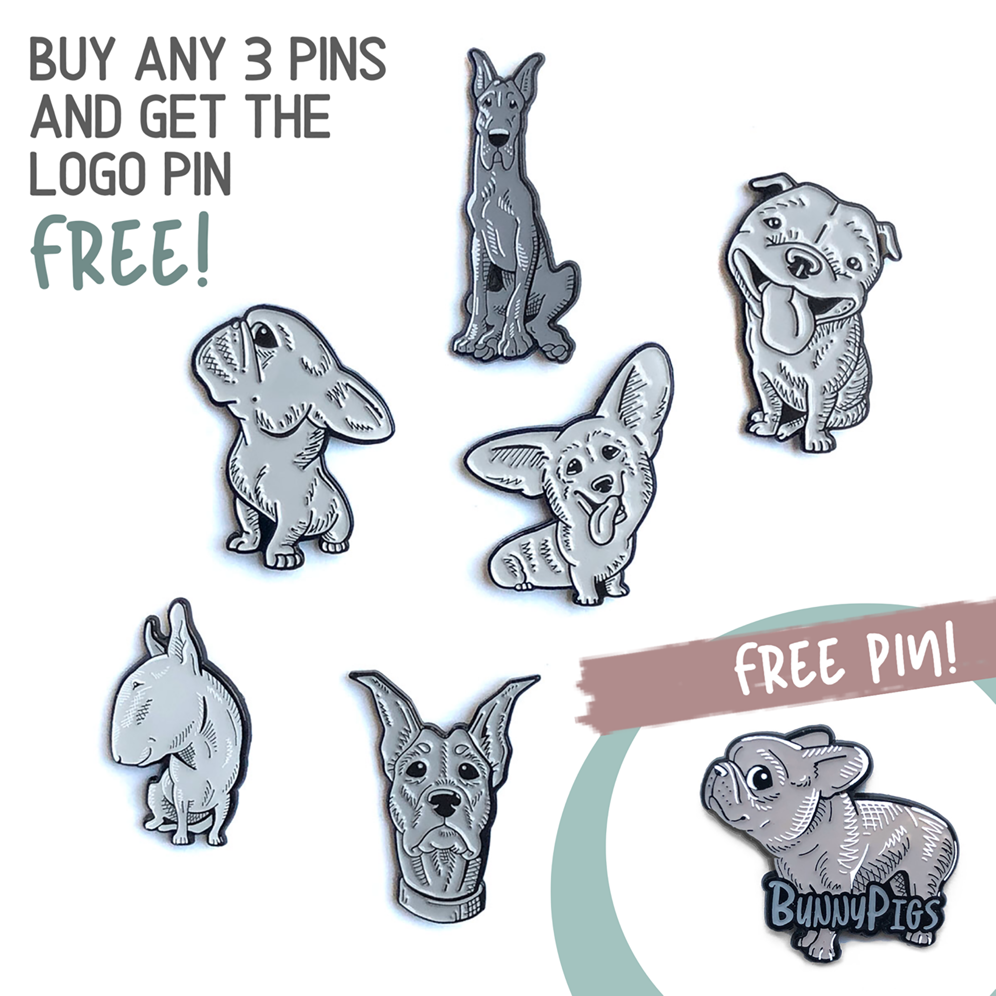Frenchie Pin