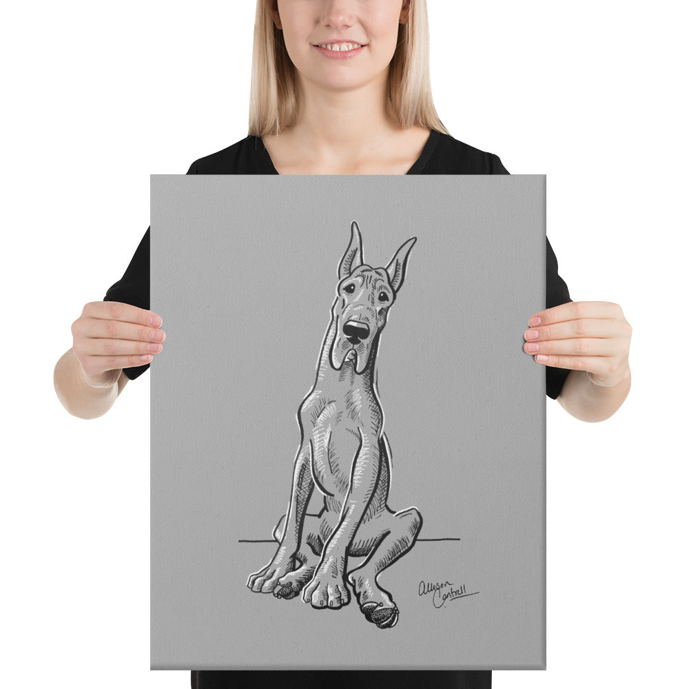 Great Dane on Canvas