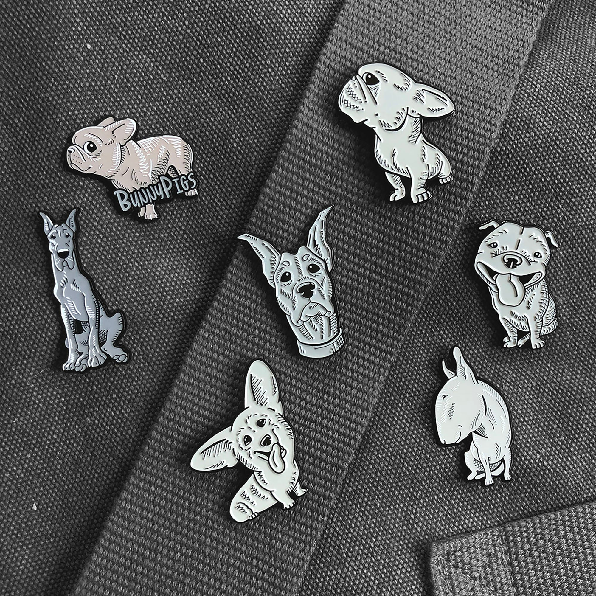 Frenchie Logo Pin