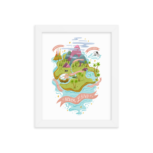 Neverland Map | Art Print
