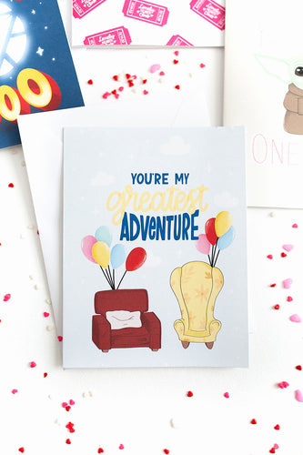You're My Greatest Adventure - Valentine's Day Card