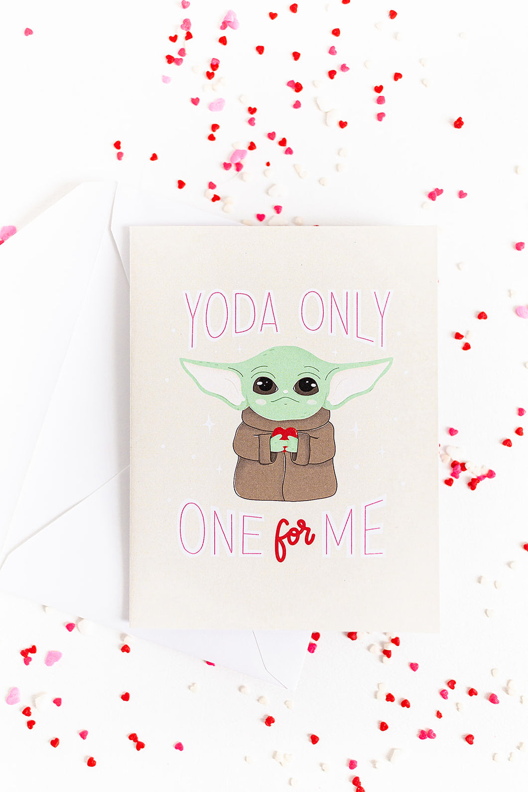 Yoda Only One For Me - Valentine's Day Card