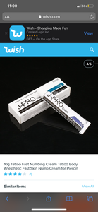 JPRO Topical Numbing Cream