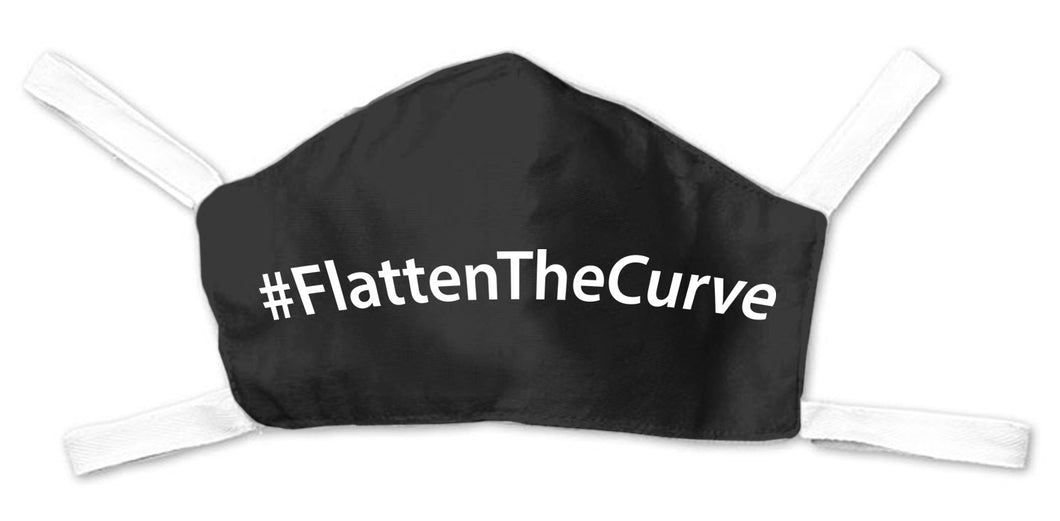 Flatten The Curve Face Mask - Black