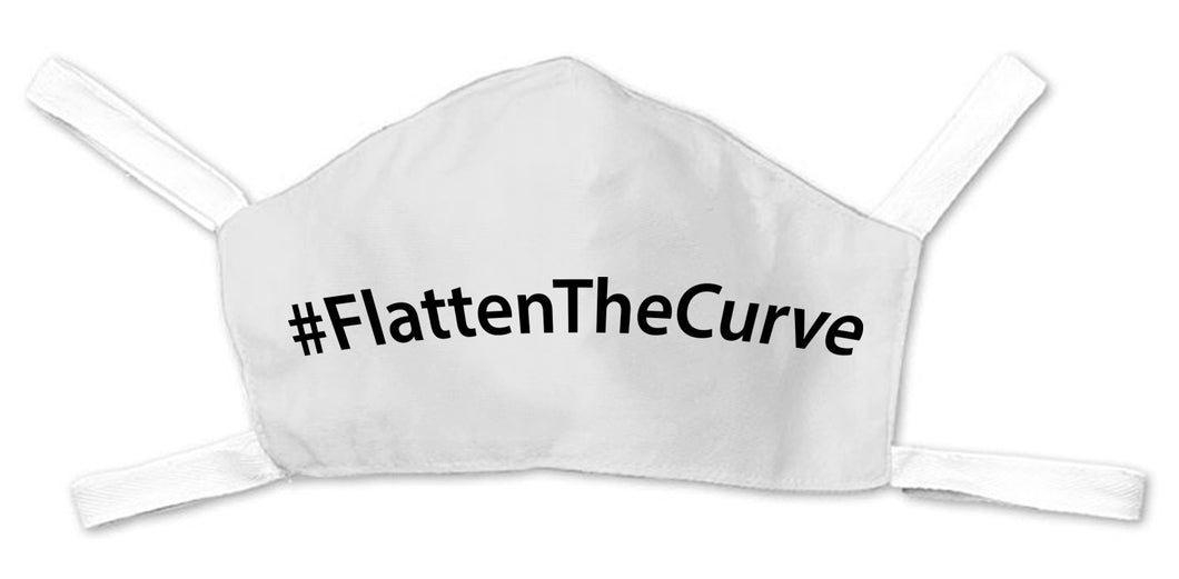 Flatten The Curve Face Mask - White