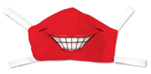 Red Big Grin Face Mask