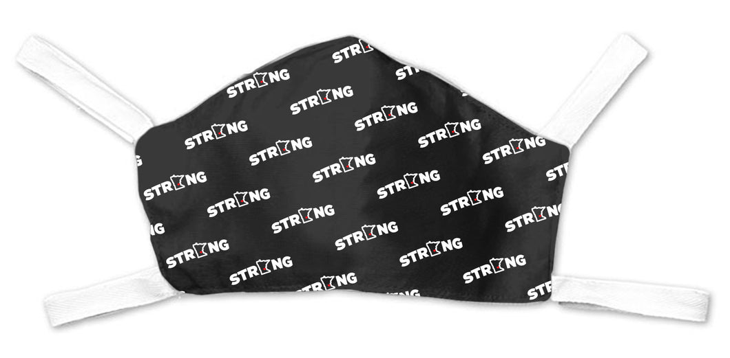 MN Strong Repeater Face Mask - Black