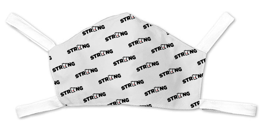 MN Strong Repeater Face Mask - White