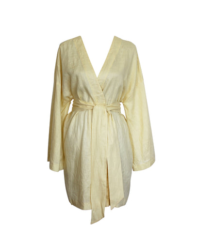 The Dress Robe in Lemon
