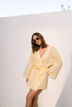 Load image into Gallery viewer, The Dress Robe in Lemon