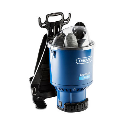 Pacvac Superpro Duo 700 Backpack Vacuum Cleaner + 10 Dust Bags + Carpet Turnover Floor Tool