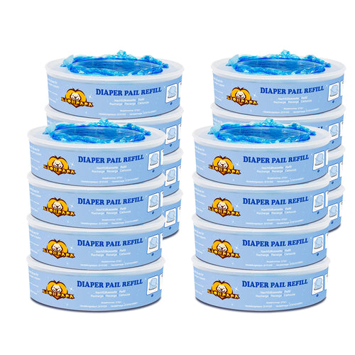 16 Pack Diaper Pail Refills for Diaper Genie Pails or Munchkin Pails Replacement