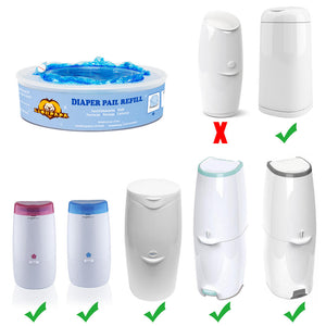 4 Pack Diaper Pail Refills for Diaper Genie Pails or Munchkin Pails Replacement
