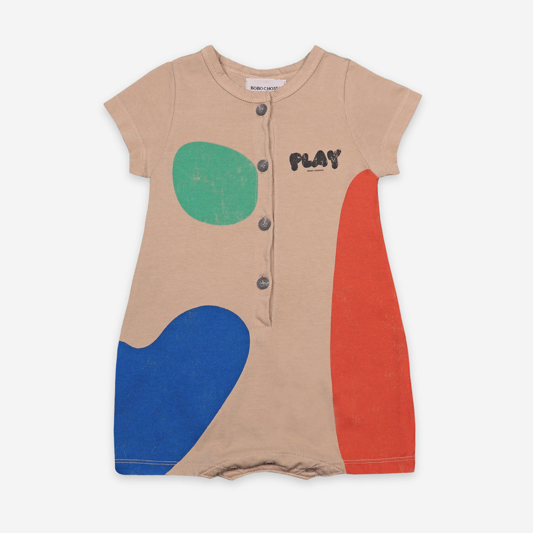 プレイスーツ 3-6.6-12m Short Sleeve Playsuit(038)